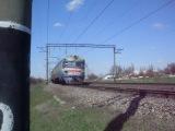 ЭР1-209 прибывает на ст.Молодежное.перегон Симферополь-Симферополь грузовой!
